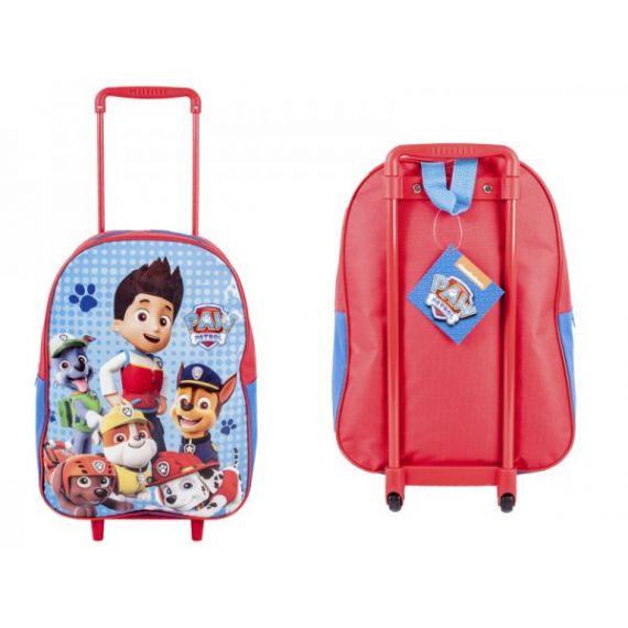 Kids paw patrol travel trolley bag