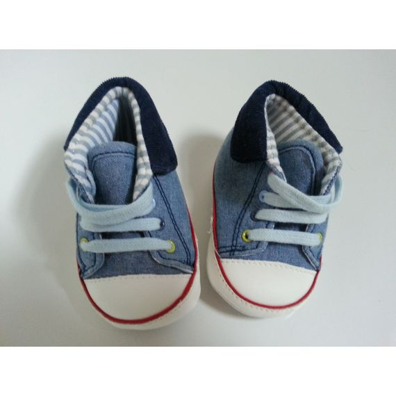 Baby boy blue mix trainers 3-6 months