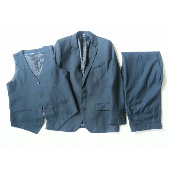 Boys navy blue 3 piece suit, 11-12 years