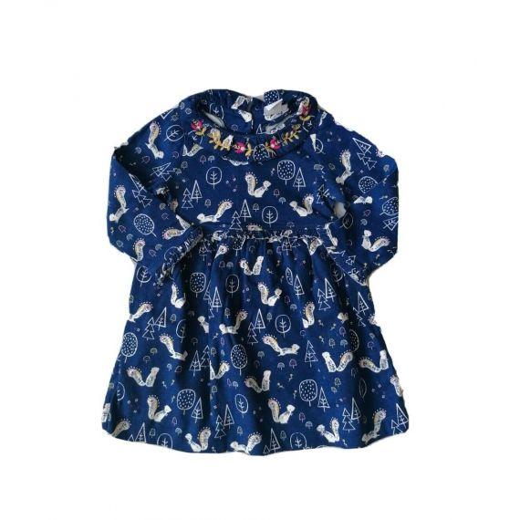 Blue dress D2 9-12m