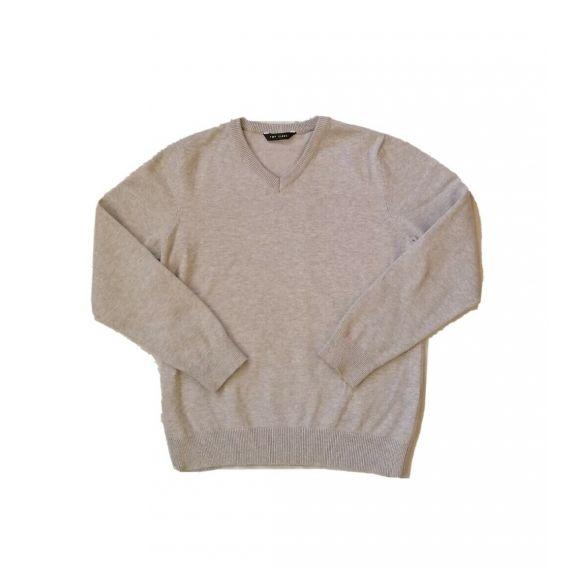 Grey v-neck jumper 7-8 years