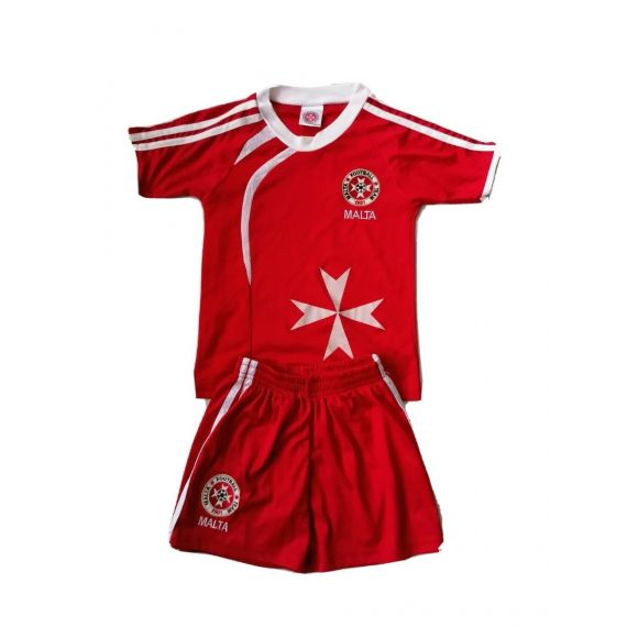 Red football  outfit 5-6 years