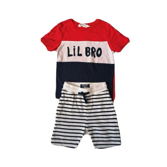 Lil brother t-shirt/shorts 4-5 years