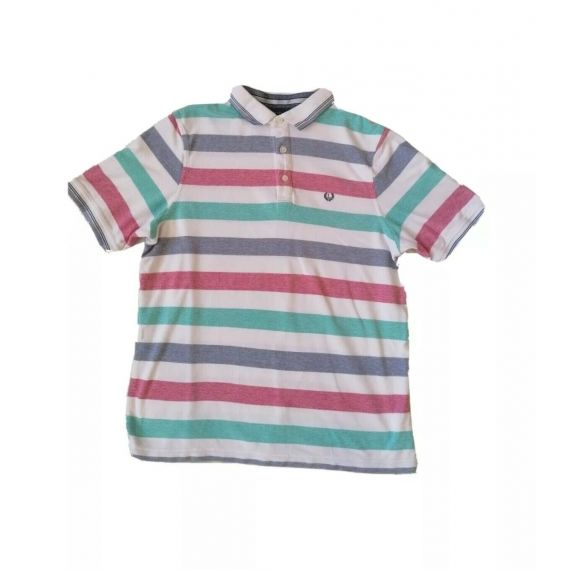 Striped polo t-shirt Large