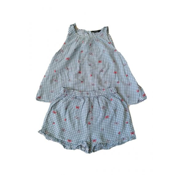 Girls blue mix outfit 3-4 years