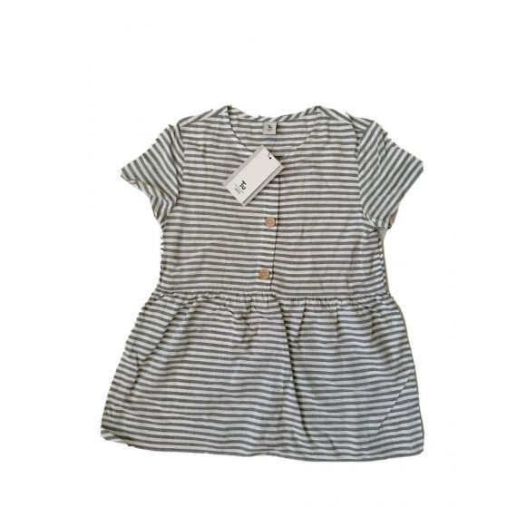Grey/white striped top 7 years