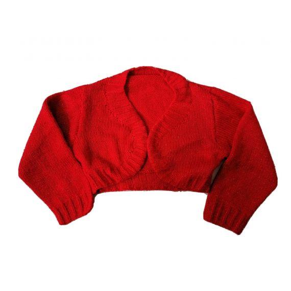 Red knitted bolero 6-7 years