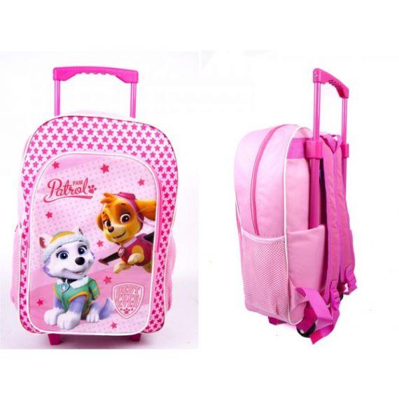 Girls paw patrol trolley backpack