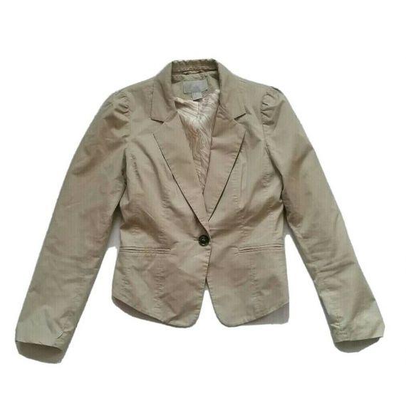 Ladies and women beige blazer UK 8 EU 36