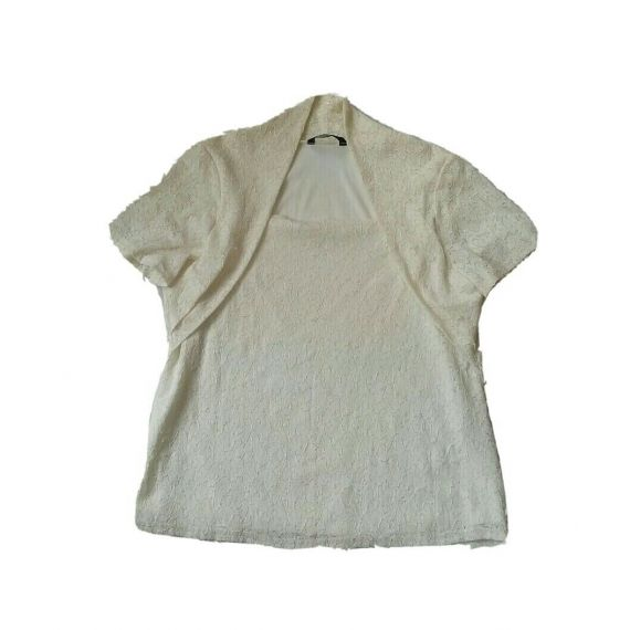 Ladies and Women cream blouse top, size Large