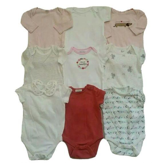 Baby girl bodysuit bundle 3-6m