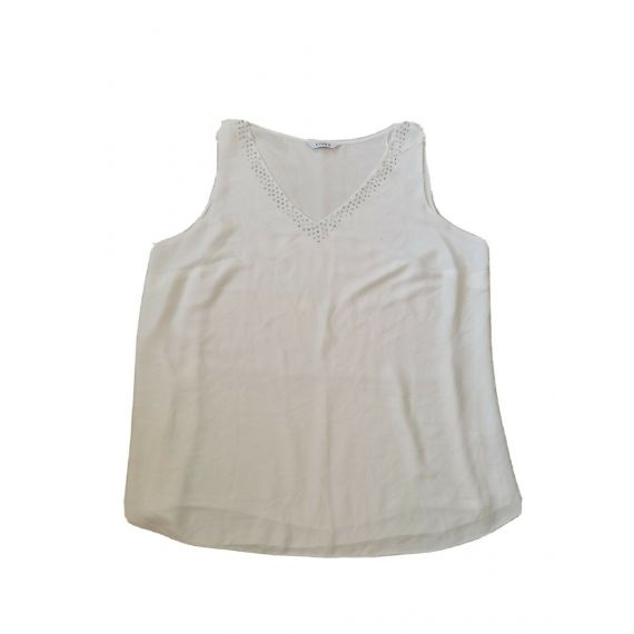 Ladies sleeveless white top UK 24