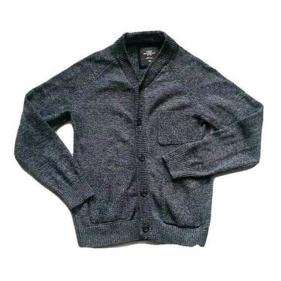 Men blue jumper cardigan. size small