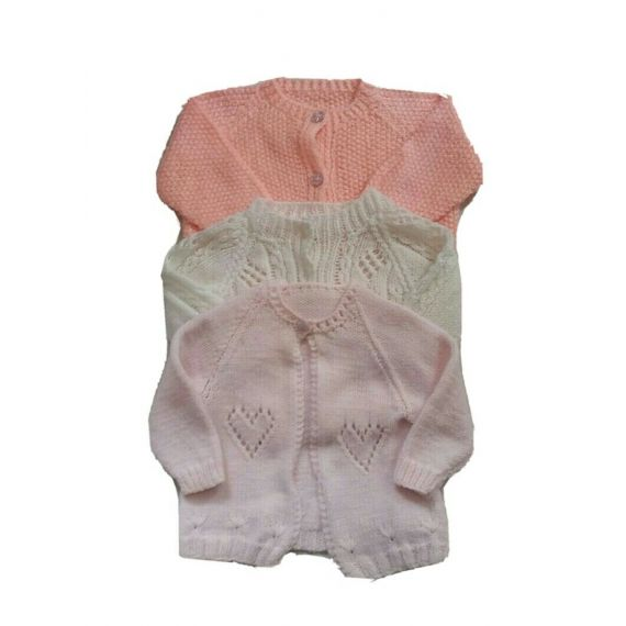 Baby girl white and pink cardigan bundle 3-6 months