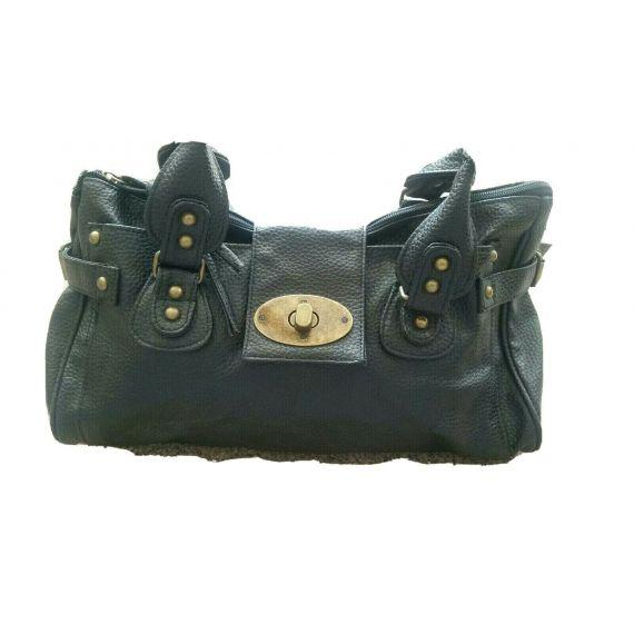 Ladies And Women Black Handbag. Measures L14 x L8.5 x D4 inchs