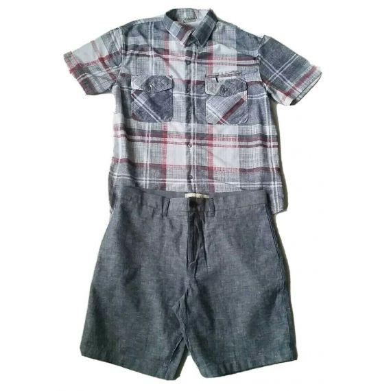 Men shirt and short bundle W34, shirt- Large