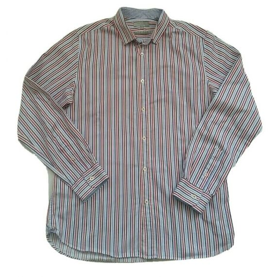 "Men Ted Baker striped formal long sleeve shirt, medium(16"")"