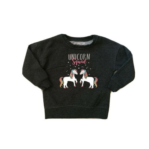 Unicorn grey sweatshirt 2-3 years