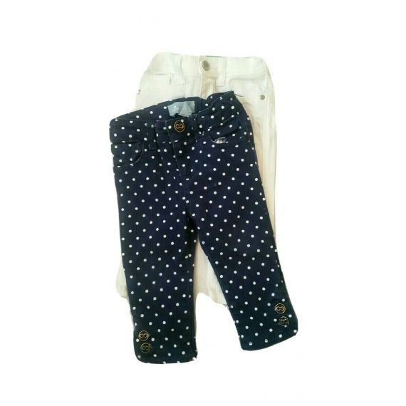 2 x baby girl jeans 12m