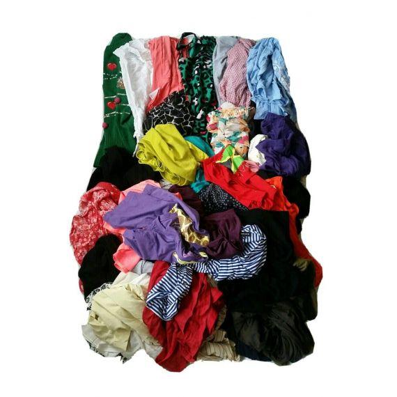 Ladies used clothe wholesale mini bale tops