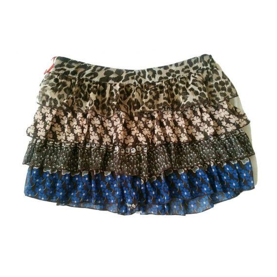 Ladies and women brown mix skirt UK 12 EU 40
