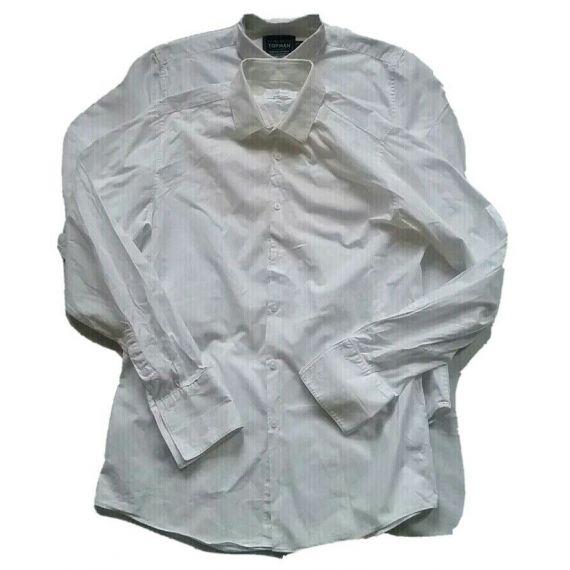 2 X Men Topman White Long Sleeve Shirt Size Medium