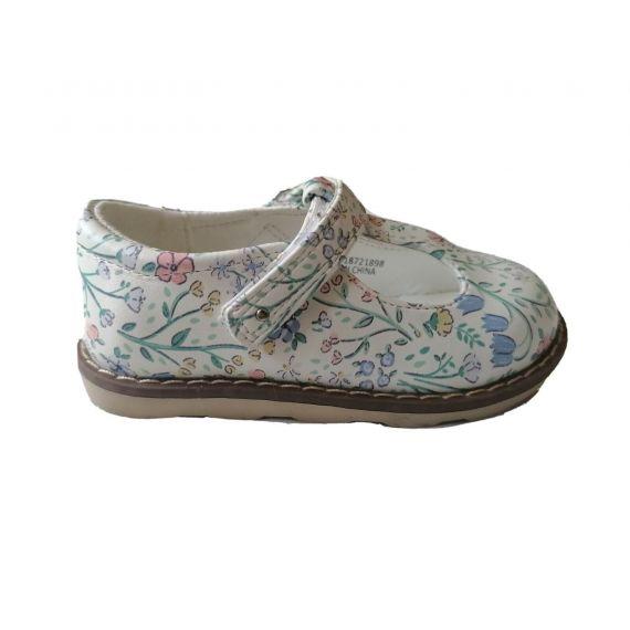 Floral white mix shoe UK 4 EU 20