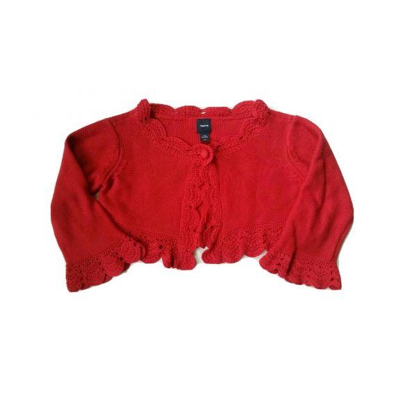 Girls red bolero cardigan 8-9 years