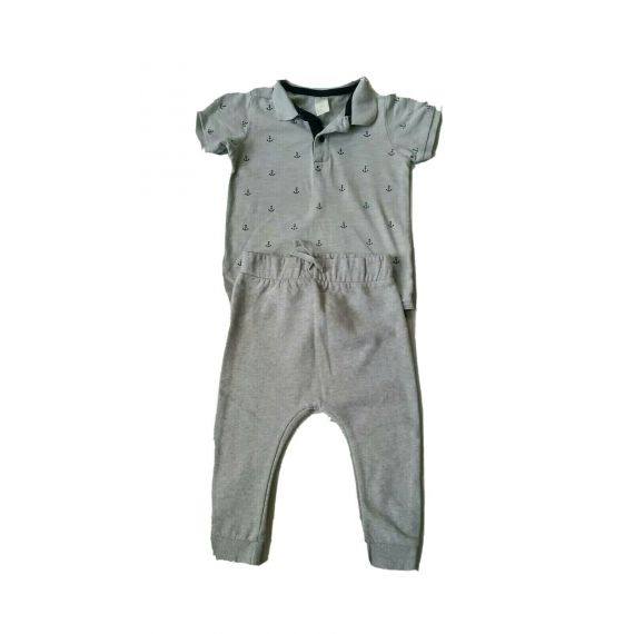 Baby boy grey t-shirt and jogger 12-18 months