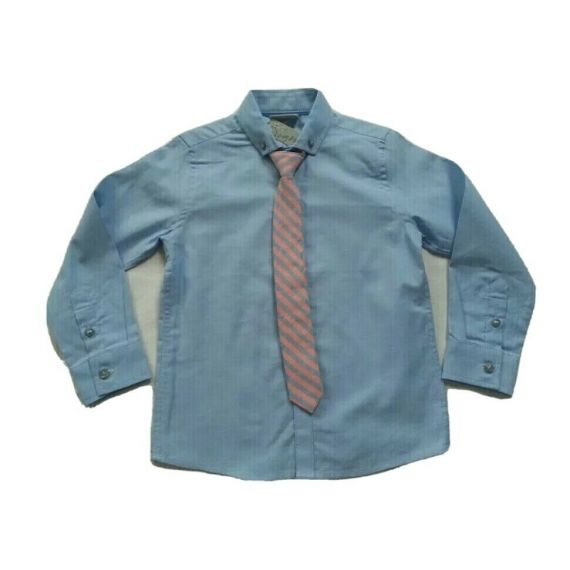 Boys Next blue long sleeve shirt 4 years