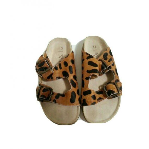 Girl brown mix slippers UK 13 EU 31
