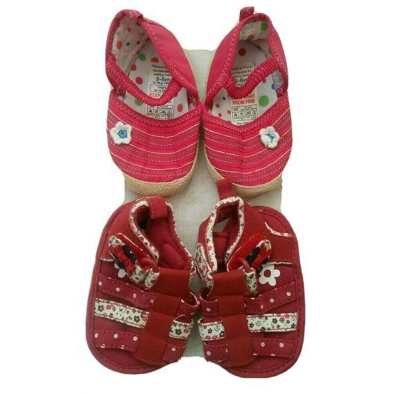 Baby girl shoe bundle 3-6 months