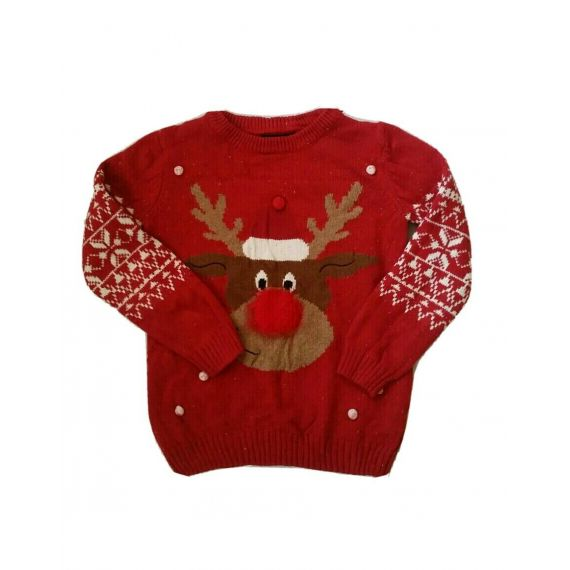 Girls red jumper 7-8 years