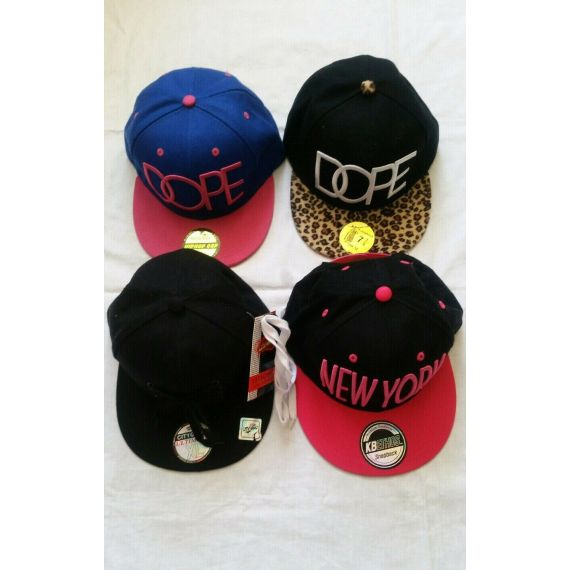 4 X Ladies snapback hat bundle, one size
