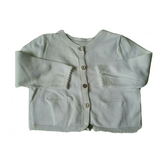 Baby girl white bolero cardigan 3-6 months