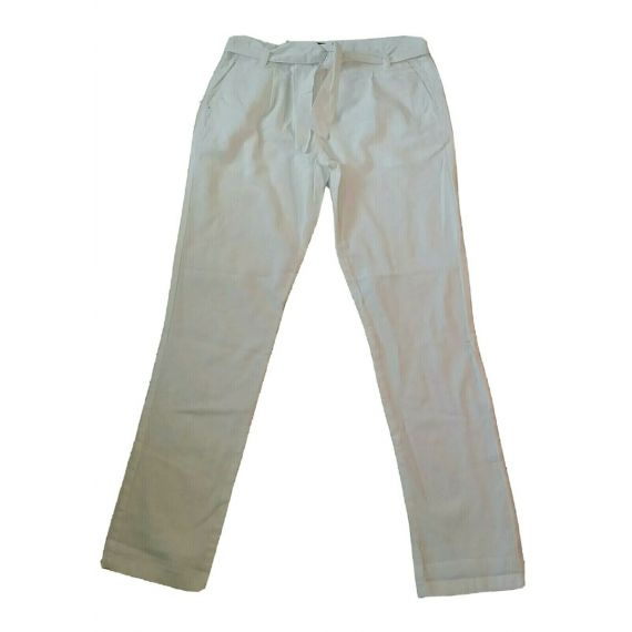 Ladies white linen trouser UK 10 EU 38