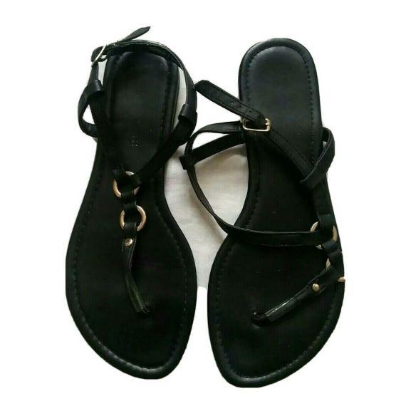 Ladies black sandal UK 6 EU 39