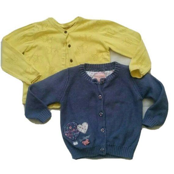 2 x Baby girl cardigan 12-18 months
