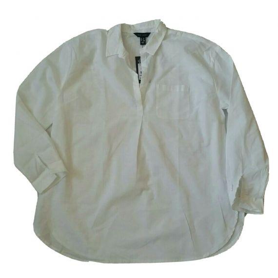 Ladies white linen shirt UK 10 EU 38