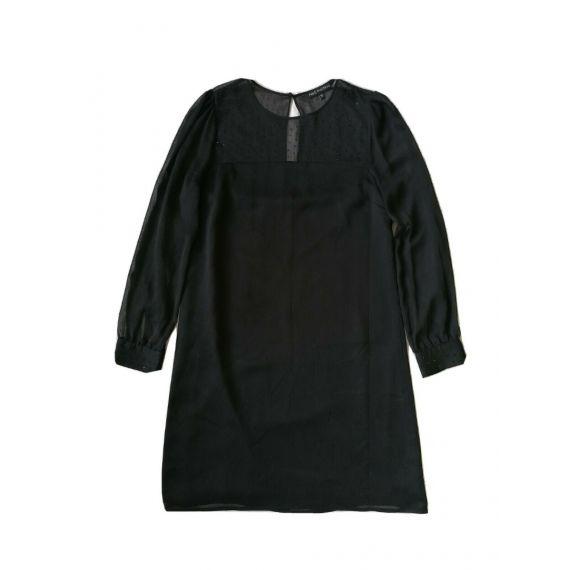 Black chiffon dress UK 10