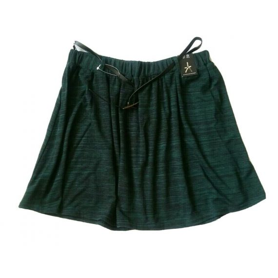 Ladies and women green skirt with belt UK 14