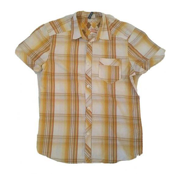 Men casual checked short sleeve, medium