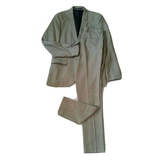 Men Topman grey 2 Piece Suit 40R/30R