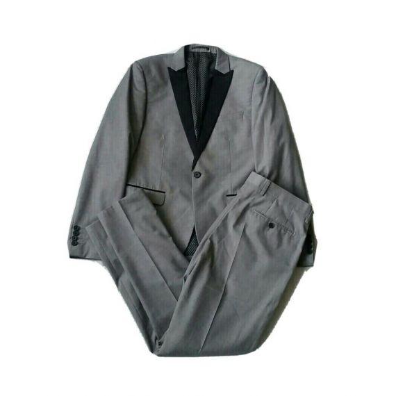 Men Next skinny fit grey 2 piece Suit 40/34