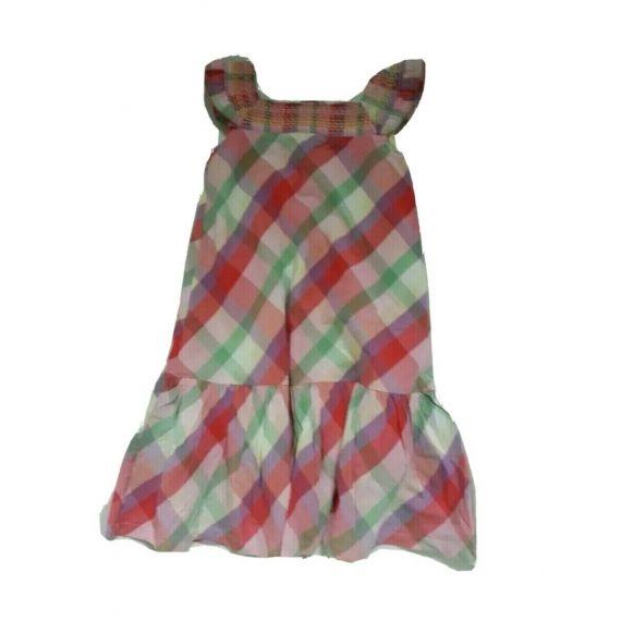 Girls M&S pink mix dress, 5-6 years