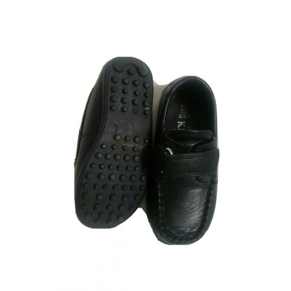 Baby boy black loafers shoe UK 6