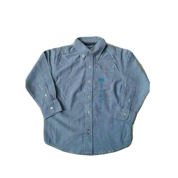 Boys blue long sleeve shirt, 4 years