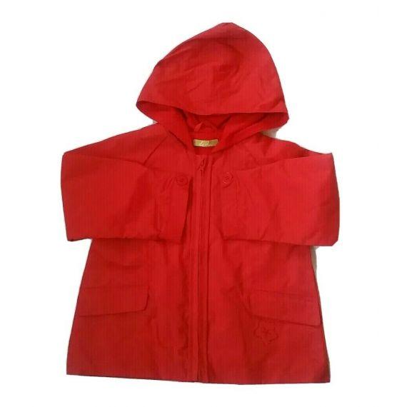 Girls red rain coat jacket 2-3 years