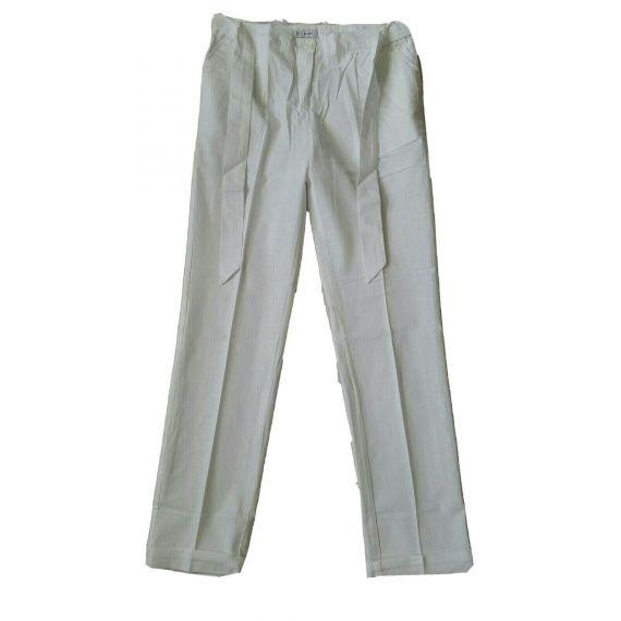 Ladies AND Women White Linen/Cotton Trouser UK 10 EU 38