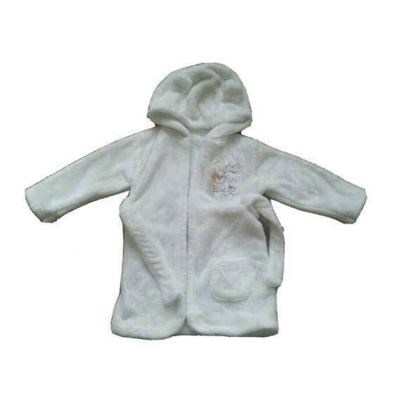 Baby girl white bathrobe 6-9 months